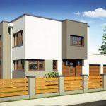 Casa moderna de dos pisos con forma irregular