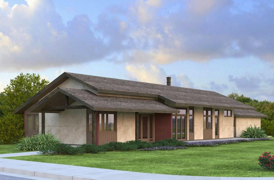 Casas angostas modernas