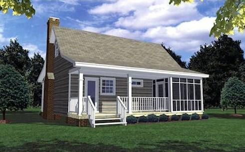 Diseño de casa de 9 x 11 m