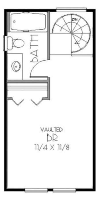 Duplex con escalera caracol