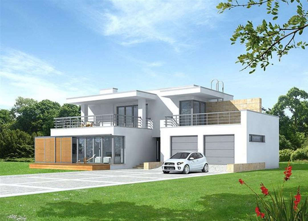 Planos y casas planos de casas plantas arquitect nicas for Fachadas de casas modernas 2 pisos