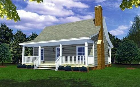 Modelo de casa de 9 x 11 m