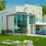 Modelo de casa con segundo piso