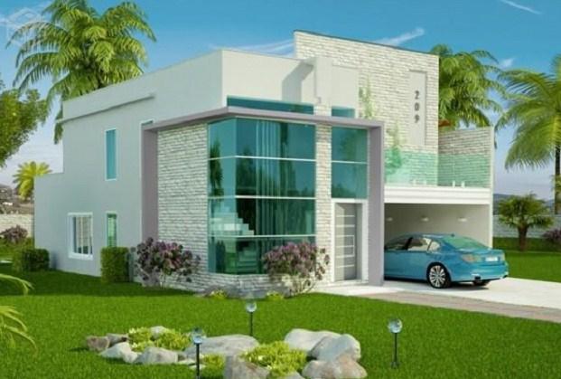 Modelo de casa con segundo piso for Casas modernas para construir