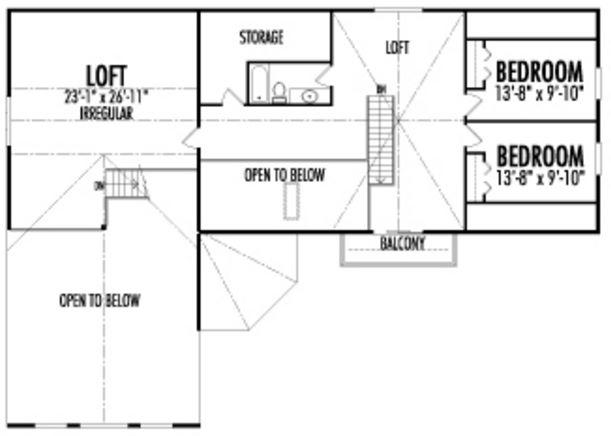 Plano cabaña 2 pisos