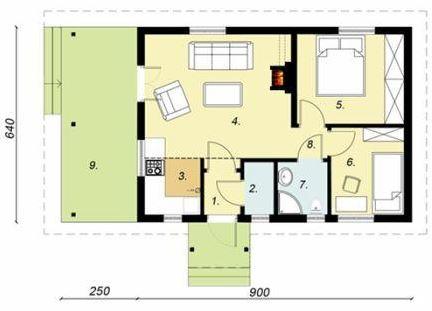 Plano de casa 6x9