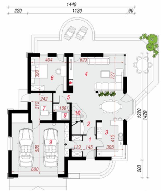 Plano de casa clásica