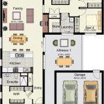 Plano de casa con garaje separado