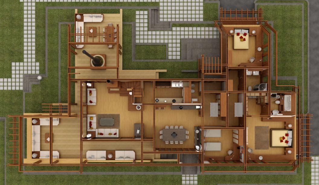 Dise o de casa lujosa - Disenos casas de madera ...