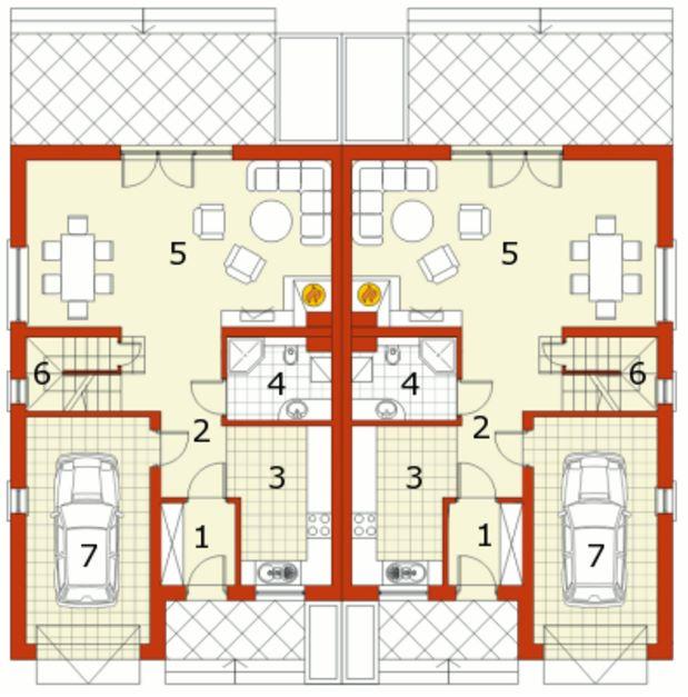 Plano de casa en condominio
