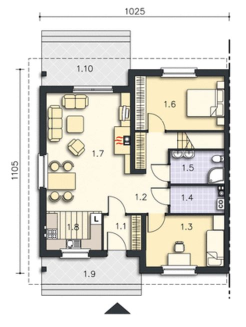 Plano duplex gemelo