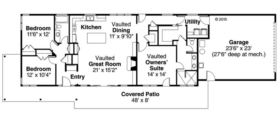 3 dormitorios planos y casas - Casas estrechas y largas ...