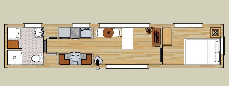 Planos de casas de 4 metros por 20 metros