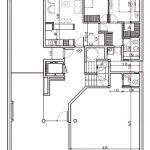Plano de edificio de 4 pisos