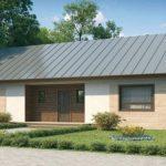 Casa rectangular con cortes