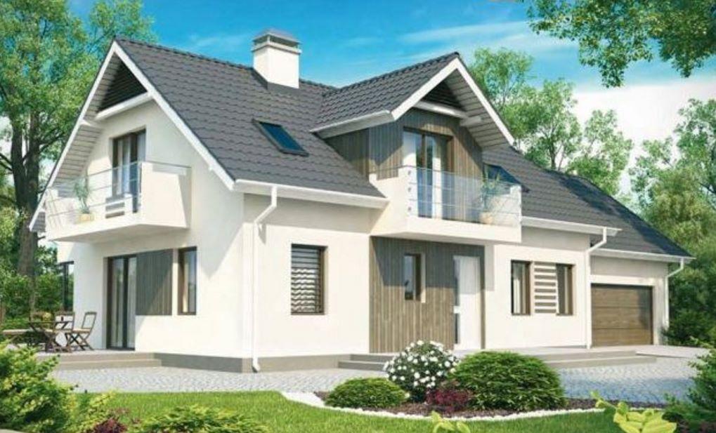 Planos de casas de 2 pisos modernas for Fachadas de chalets modernos