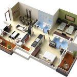 Modelos de apartamentos de 2 habitaciones