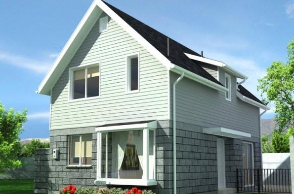 Modelos de casas con dormitorios arriba