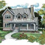 Casa clásica con fachada y planos