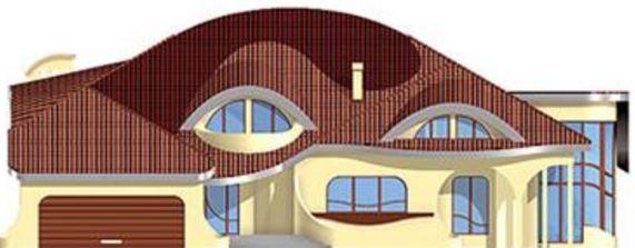 Casa con curvas cortes