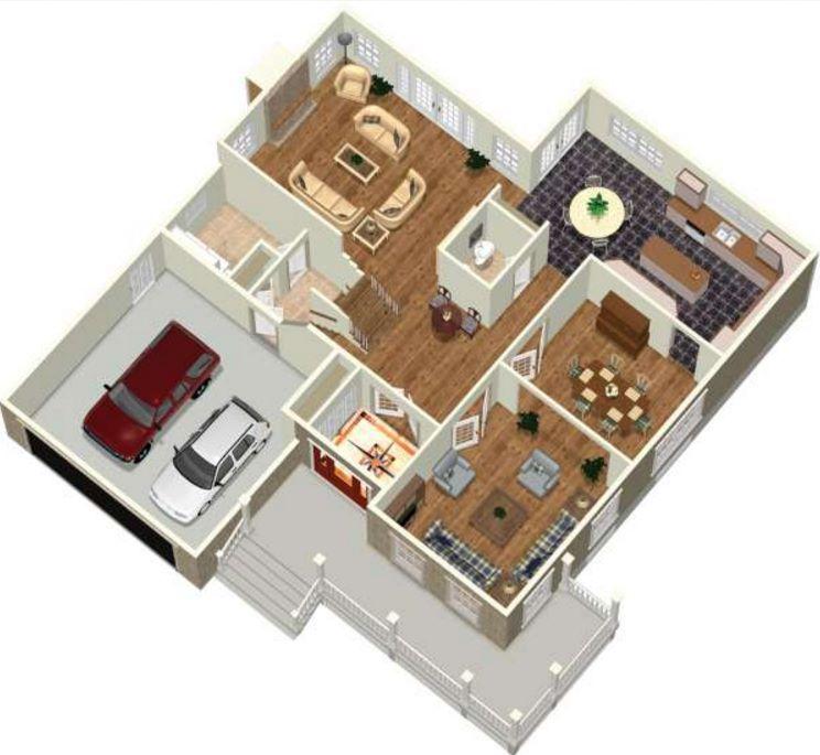 casa-de-cuatro-dormitorios-con-2-pisos-plano-en-3d