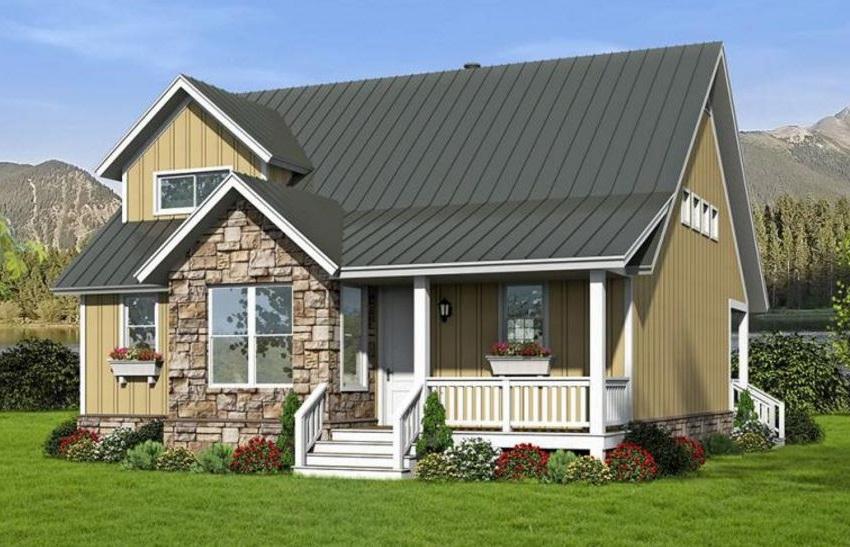 Casa de madera con detalles en piedra - Casas de piedra y madera ...