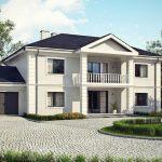 Casa grande con fachada imponente