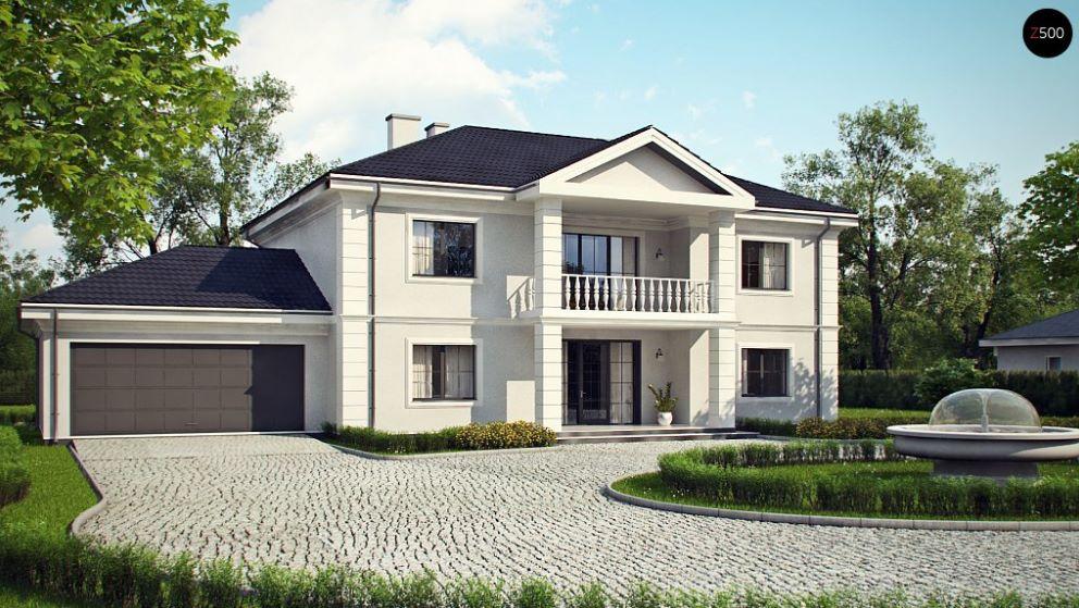 Casa grande con fachada