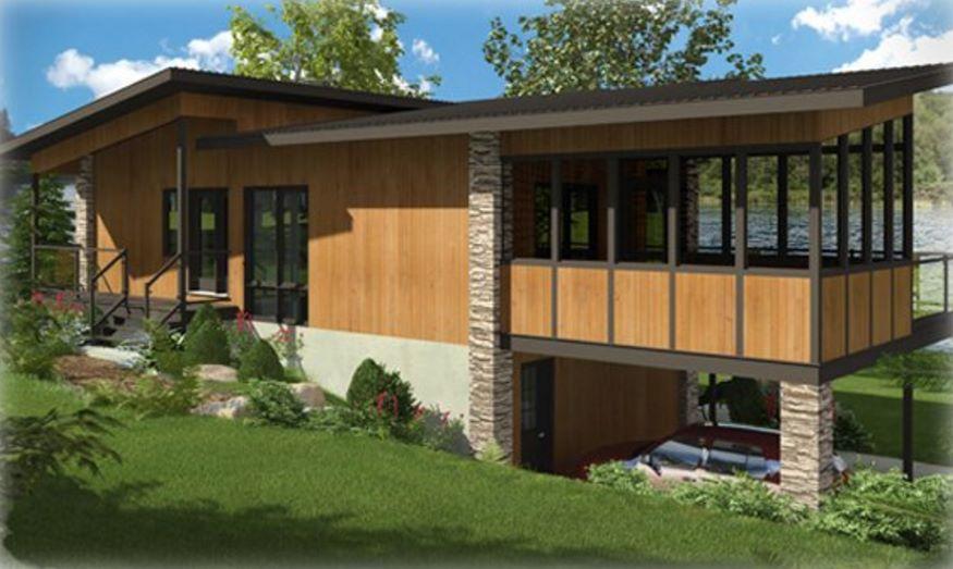 Plano de casa con terraza en el segundo piso for Terrazas 2do piso