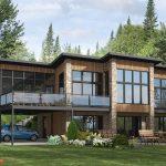 Casa moderna de 2 pisos con terraza