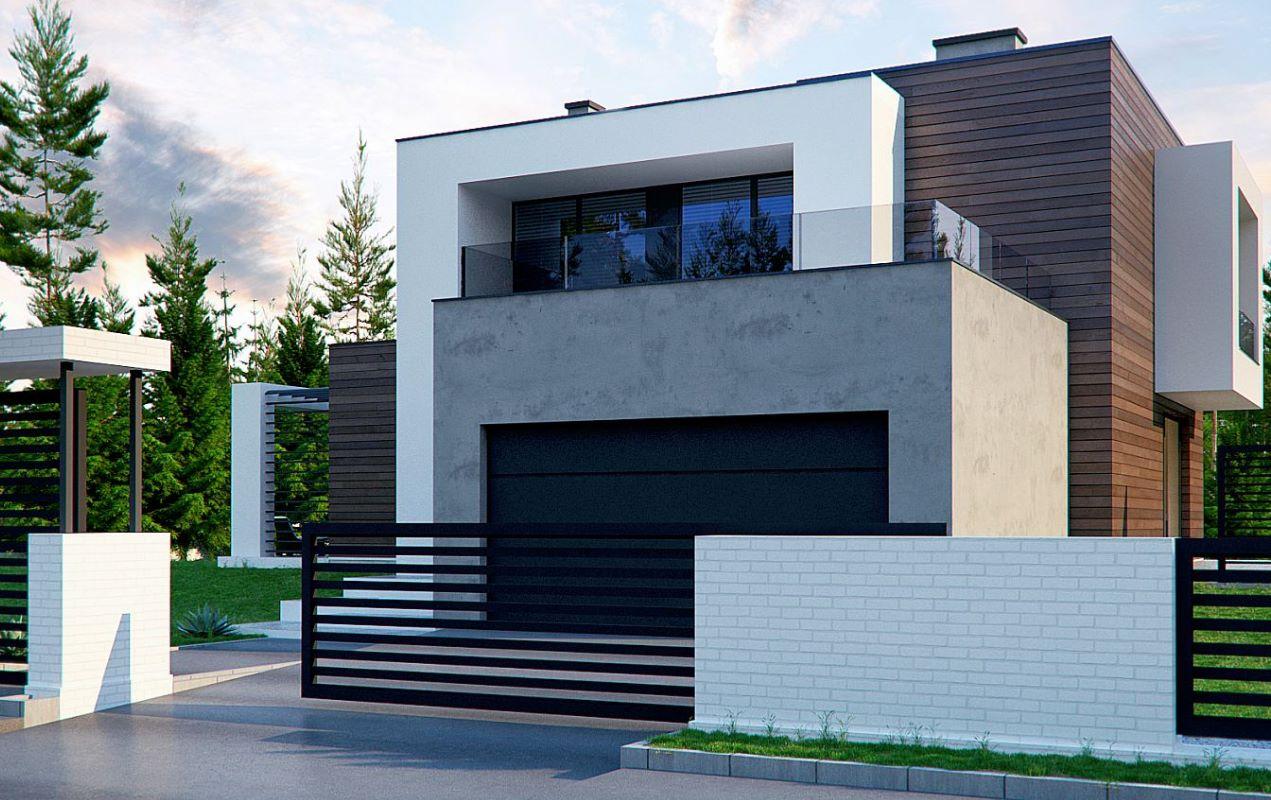 Casa moderna de 275 metros cuadrados for Planos y fachadas de casas modernas