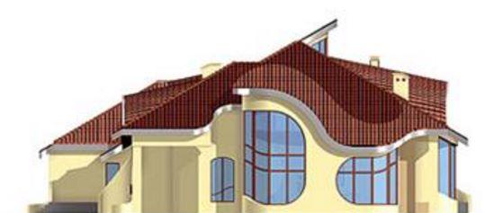 Lateral casa con curvas