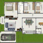 Modelo de casa simple de 4 dormitorios con quincho