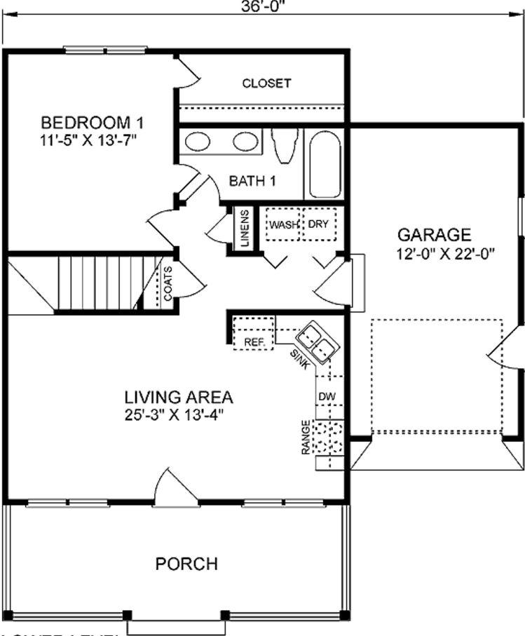 plano-de-casa-de-2-pisos-con-garaje-simple