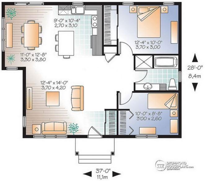 planos de casas 4 x 8