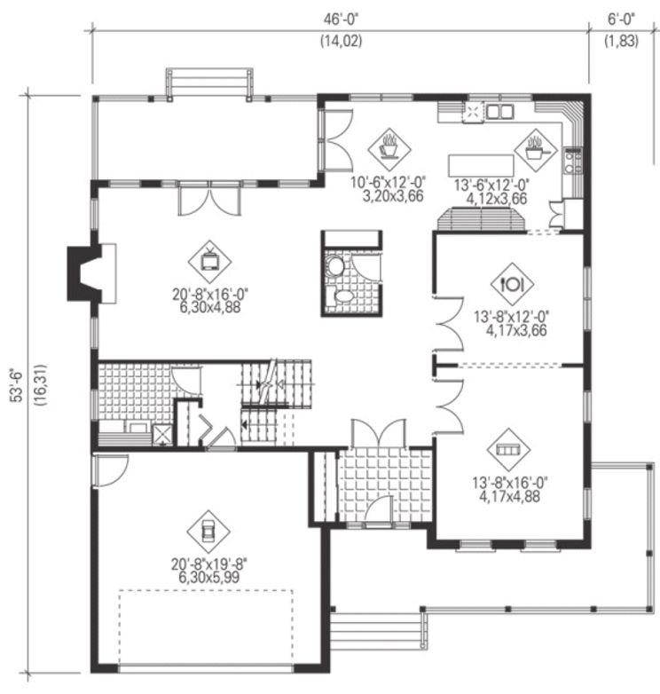 plano-de-casa-de-cuatro-dormitorios-con-2-pisos
