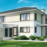 Plano de casa de 12 × 14 m