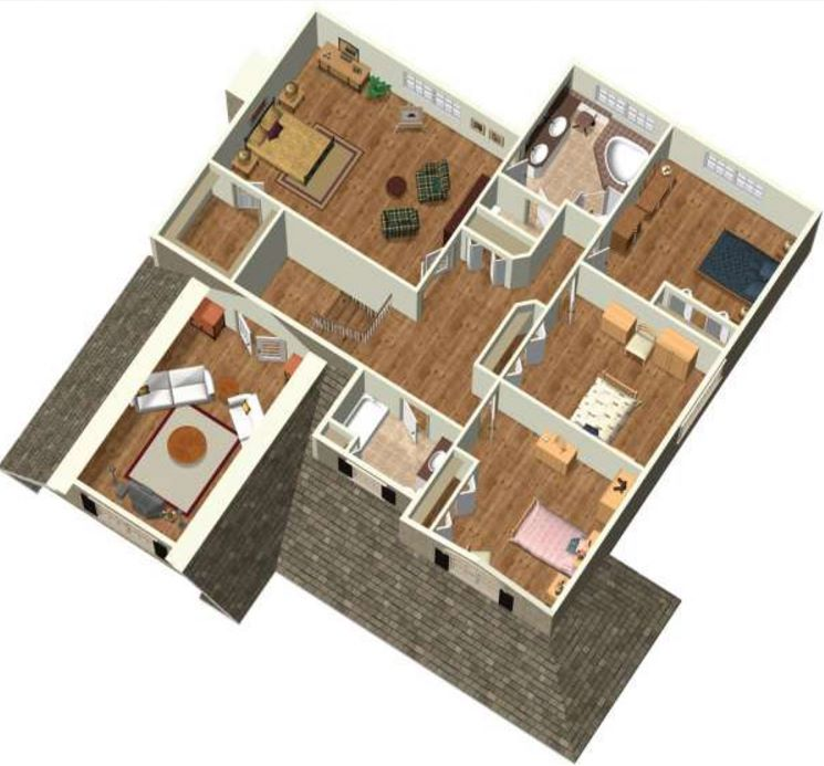plano-en-3d-de-casa-de-cuatro-dormitorios