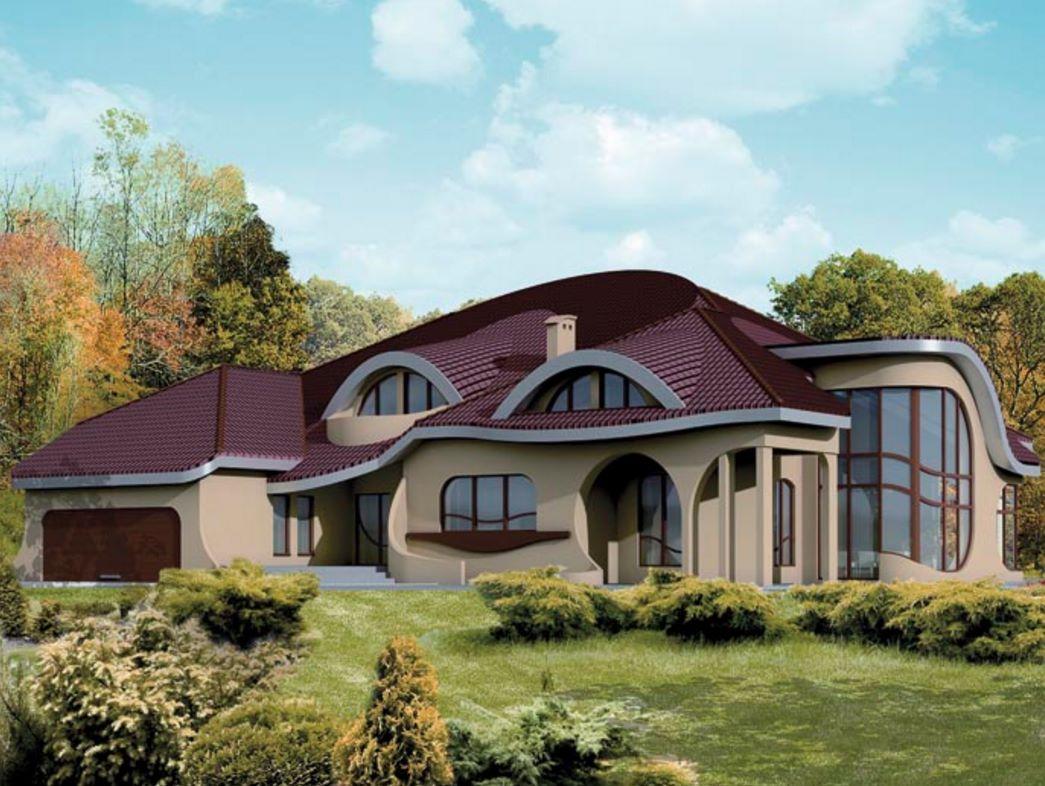fachada de casa con curvas