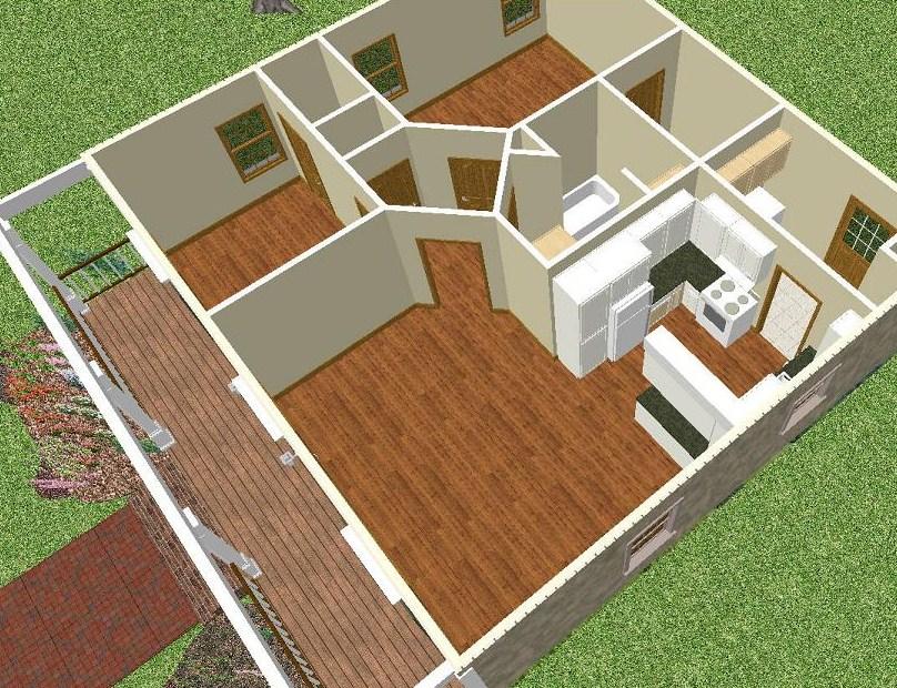 Plano de casa sencilla 1 piso planos y casas for Plano casa un piso