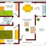 Casa de forma irregular con 2 recámaras
