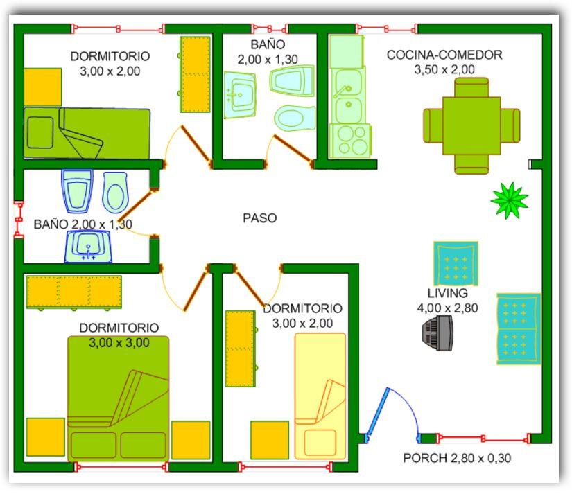 Plano de casa for Planos de casas medianas