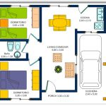 Casa pequeña con cochera y 2 dormitorios