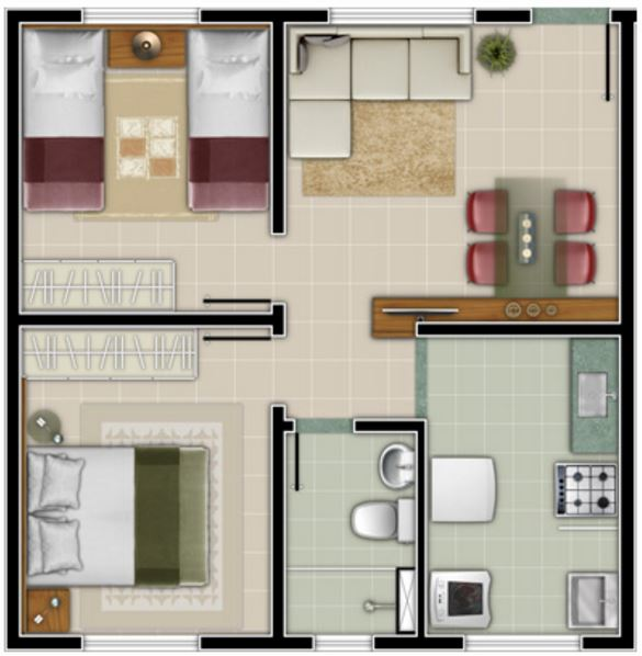 planos de casas pequenas con espacios abiertos
