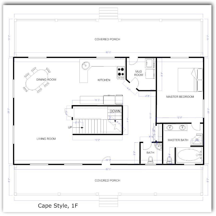 casa-rectangular-de-1-dormitorio-y-sotano