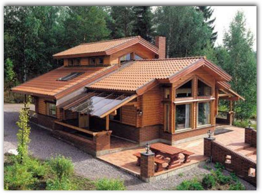 Casas de campo for Modelos de casas de madera de un piso