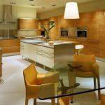 Cocina decorada con madera