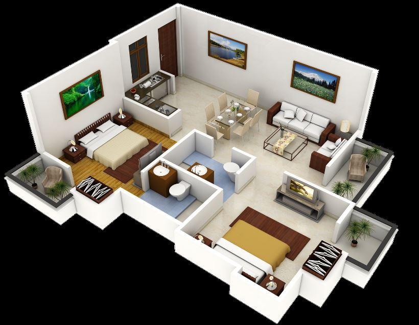 modelo-de-departamento-de-2-dormitorios-y-2-banos