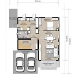 Plano de casa de 11 x 15 metros