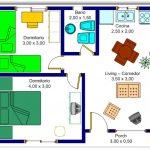 Plano de casa de 7 metros de ancho